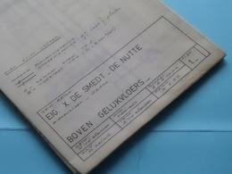 HAMME - BIESBOSLAAN > WOONHUIS Plan 1 > Schaal 2 & 5 Cm.p.m. ( Zie/voir Photo > Arch. Van Den Branden ) Anno 1975 ! - Architecture
