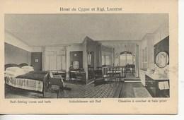 Hôtel Du Cygne Et Rigi.-Chambre Et Bain Privé. - LU Lucerne