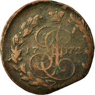 Monnaie, Russie, Catherine II, 5 Kopeks, 1772, Ekaterinbourg, TB, Cuivre - Russie