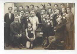 LIMOGES LES AIGLONS ATHLETISME COUPE HENRI ESDERS 1928 CARTE PHOTO JOVE CACHET A SEC /FREE SHIPPING REGISTERED - Limoges
