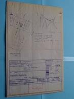 KRAAINEM Drève Des Mésanges 2 > Plan + Docu  ( Zie Foto's > Arch. G Bossuyt - W. Buelens ) Anno 1973 ! - Architectuur