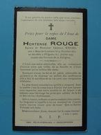 Hortense Rouge épse Wetzel Bois-de-Lessines 1871 Ollignies 1934 - Images Religieuses