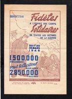 Tract De La Fédération Nationale Des Prisonniers De Guerre / Du 1er Au 25 Mars 1946 Aidez Les Prisonniers Et Sinistrés . - Documents Historiques