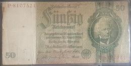 EBN5 - Germany 1933 Banknote 50 Reichsmark Pick #182a P.8107521 - [ 3] 1918-1933: Weimarrepubliek