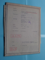MACHELEN Lindegaarde Plan/Schaal 1/50 - 1/500 - 1/1000 ( Zie Foto's > Arch. Van Den Branden ) Anno 1974 ! - Architectuur
