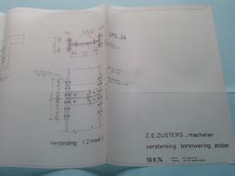 MACHELEN ( Z.E.Zusters ) Plan Versterking Borstwering Zolder ( Zie Foto's > Arch. Van Den Branden ) Anno 1974 ! - Architecture