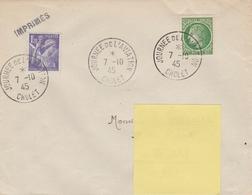 OBLIT. JOURNÉE De L'AVIATION - CHOLET 10/45 - Postmark Collection (Covers)