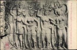 Cp Kambodscha, Angkor Wat, Bas Reliefs, Thevadas Sans Parure - Chine