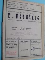 MACHELEN ( Heirbaan 73 ) WOONHUIS Plan Schaal 2 Cm.p.m. ( Zie Foto's > Arch. Van Den Branden ) Anno 1977 ! - Architecture