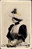 Cp Tänzerin Cleo De Merode, Ballerina, Portrait In Damenhut - Personnages Historiques