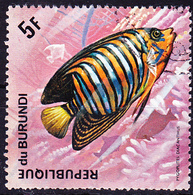 Burundi - Pfauen-Kaiserfisch (Pygoplites Diacanthus) (Mi.Nr.: 1048) 1974 - Gest Used Obl - Burundi