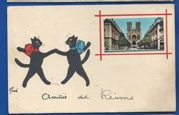 AMITIES DE REIMS    Chat René      écrite En 1956 - Reims