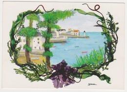 26570 Belle Ile En Mer Sauzon  Aquarelle Algues Jeannick CONAN Expo Guemon D'art --CIM C3 56152-9-5664 - Belle Ile En Mer