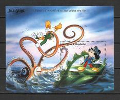 Disney Antigua & Barbuda 1996 Jules Verne - Twenty Thousand Leagues Under The Sea MS MNH - Disney