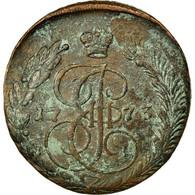 Monnaie, Russie, Catherine II, 5 Kopeks, 1773, Ekaterinbourg, TB+, Cuivre - Russie