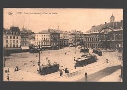 Liège - Place Saint-Lambert Et Palais De Justice - 1924 - Tram / Tramway - Liege