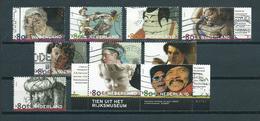 2000 Netherlands Complete Set 200 Years Rijksmuseum Used/gebruikt/oblitere - Periode 1980-... (Beatrix)