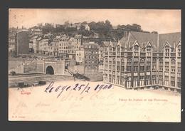 Liège - Palais De Justice Et Rue Pierreuse - Dos Simple - 1900 - Liege