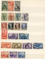 Lotticino Di 9 Serie Di Francobolli Commemorativi Annullati Dal 1911 Al 1943 (cat. 135 Euro) 2 Immagini - Francobolli