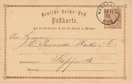 MAGDEBURG - 1873 , Ganzsache Nach Stassfurt - Deutschland