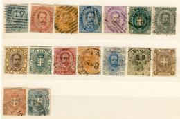 Lotticino Di 16 Francobolli Annullati Di Umberto I (cat. 150 Euro) - Stamps