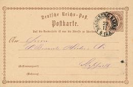 MAGDEBURG BAHNH. - 1873 ? , Ganzsache Nach Stassfurt - Deutschland