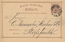 MAGDEBURG BAHNH. - 1873  , Ganzsache Nach Stassfurt - Deutschland