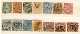 Lotticino Di 14 Francobolli Annullati Di Vittorio Emanuele II (cat. 150 Euro) - Stamps