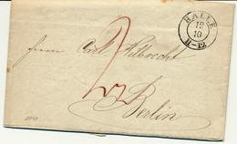 HALLE  - 1848 , Brief Mit Inhalt - Nach Berlin - Preussen
