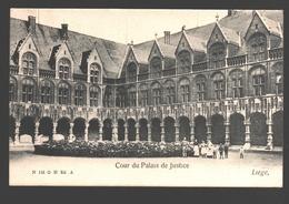 Liège - Cour Du Palais De Justice - Dos Simple - Liege