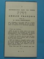 Amélie François Vve Deportemont Ollignies 1867 1955 - Images Religieuses