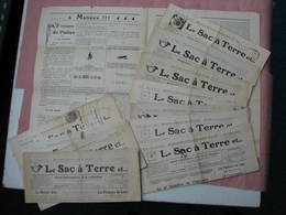 """Journal """"le Sac à Terre"""" Journal Embuscophobe Du 61° De Ses Bataillons. 1916/1917 --  12 Exemplaires TBE - Revues & Journaux"""