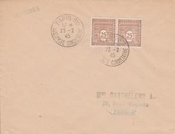 OBLIT. PARIS ASSEMBLÉE CONSULTATIVE 2/45 - Postmark Collection (Covers)
