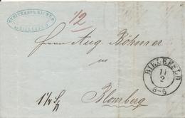 BIELEFELD - 1849 , Brief Mit Inhalt - Nach Blomberg - Preussen