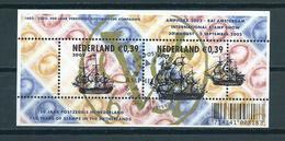 2002 Netherlands Complete M/Sheet Amphilex Stamp Show Used/gebruikt/oblitere - Periode 1980-... (Beatrix)