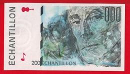 ECHANTILLON - BILLET DE CALAGE  (du 200 Francs Type Eiffel)  NEUF - Specimen