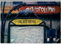 """CP Trains - Métro De Paris - Station De """"PALAIS ROYAL"""" Ligne 17 - Collection Prestige - Métro Parisien, Gares"""