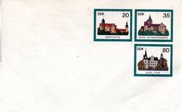 """DDR Amtl. GZS-Umschlag U 2 20(Pf) Neben 35(Pf) Darunter 80(Pf) Mehrfarbig """"Burgen Der DDR"""" Ungebraucht - DDR"""