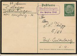 BOCKELNHAGEN über Herzberg - 1935 , Ganzsache - Nach Bad Lauterberg - Postnebenstempel , Landpoststempel - Deutschland