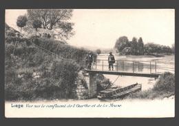 Liège - Vue Sur Le Confluent De L'Ourthe Et De La Meuse - Dos Simple - 1902 - Liege