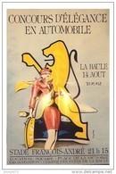 AFFICHE 40 X 60 - CONCOURS D' ELEGANCE EN AUTOMOBILE - LA BAULE 14 AOUT 1992 - Photo C. Gérard 95 - La Baule-Escoublac