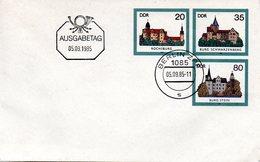 "DDR Amtl. GZS-Umschlag U 2 20(Pf) Neben 35(Pf) Darunter 80(Pf) Mehrfarbig ""Burgen Der DDR"" ETSt 5.9.85 BERLIN - DDR"