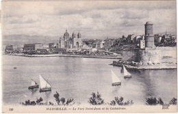 150  Marseille. - Le Fort Saint-Jean Et La Cathédrale  - ND Phot. - Oude Haven (Vieux Port), Saint Victor, De Panier