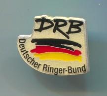 Wrestling, Lutte - Germany Ringer Bund DRB, Pin, Badge, Abzeichen - Wrestling