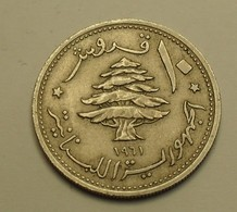 1961 - Liban - Lebanon - 10 PIASTRES - KM 24 - Liban