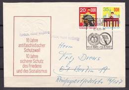 DDR - 1971 - Michel Nr. 1691/1692 - FDC - Stempel Zurück Nicht Zulässig - Gebraucht