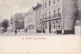 Dinant Quai De La Meuse Circulée En 1902 - Dinant