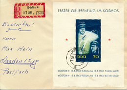 GÖRLITZ - 1963 , Block Gruppenflug Kosmos - Nach Daaden / Sieg - DDR