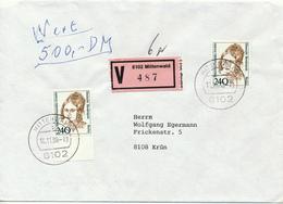 MITTENWALD - 10.11.1988    FD , M.F. Anneke  -   Wertbrief Nach Krün - Berlin (West)