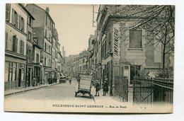 CPA  94  :  VILLENEUVE   St Georges  Rue De Paris    A  VOIR  !!!!!!! - Villeneuve Saint Georges